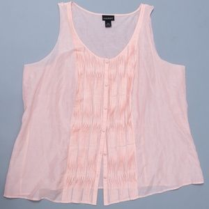 Lane Bryant Delicate Pink Silk Blend Shell 28